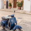 Blue Vespa in Cisternino