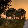 Sunset on the Aqueduct Bike Path