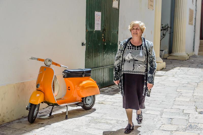 Nonna and a Vespa