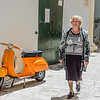 Nonna and a Vespa