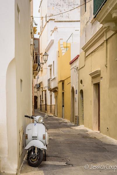White Vespa in Old Town