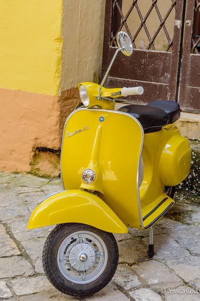 Yellow Vespa