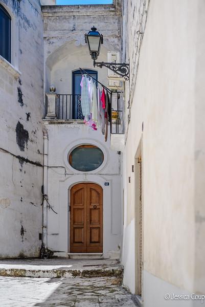 Laundry Above the Doorway