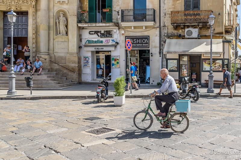Biking Down the Main Street