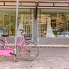 Pink Bike at Bridal Shop