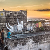 Massafra Street Art at Sunset