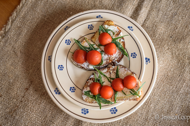 Ricotta Forte and Pomodori