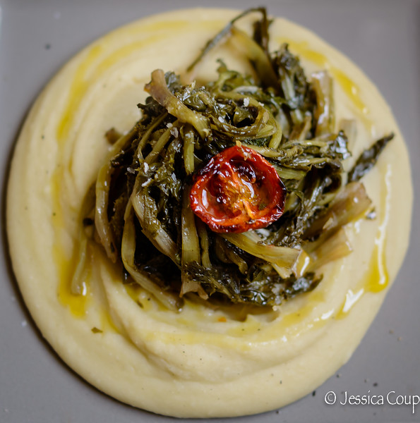 Fava With Winter Greens