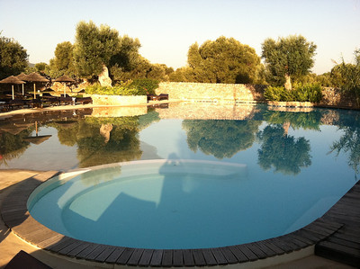 Lagoon-like pool at Masseria Torre Caccaro