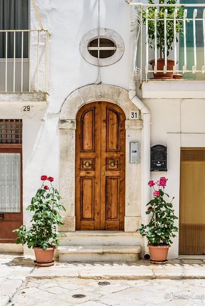 Doorway Between Two Roses