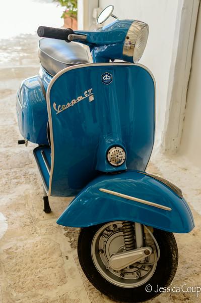 Antique Blue Vespa