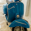 Antique Blue Vespa