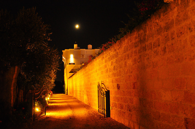 outside walls of Masseria Torre Maizza
