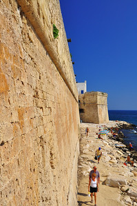 ancient city fortress walls with cannons  Monopoli