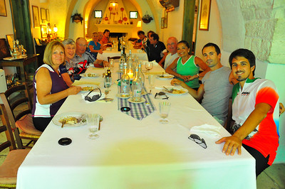 more of the hungry bikers at Il Frantoio