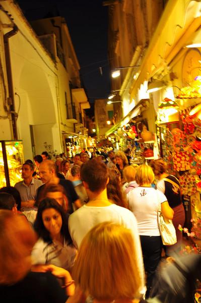 busy Otranto at night
