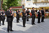 The Minori Concert Band entertaining in the village square in Ravello, Italy.