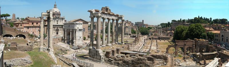 The Roman Forum in Rome.<br /> <br /> Il Foro Romano