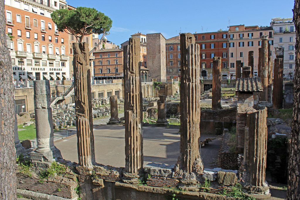 Largo di Torre Argentina ancient ruins in Rome