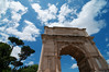 The Arch of Constantine, sitting between the Colosseum and Palatine Hill