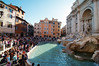 Unbelievable crowds around the Trevi Fountain on a Wednsday afternoon in June