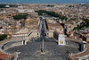 View of Rome from the roof of St. Peter's Basilica