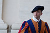 Portrait of a young Pontifical Swiss Guard