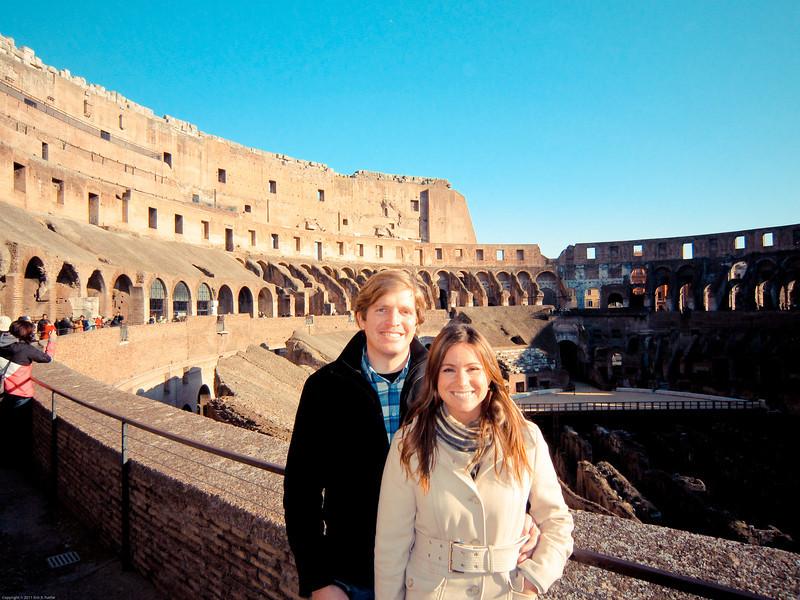Denise & Erik on the Colosseum top floor