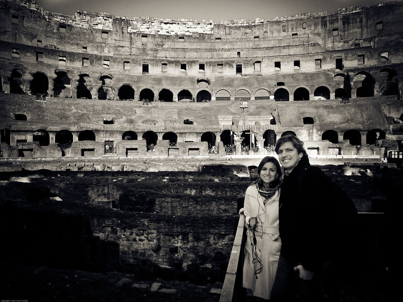 Denise & Erik on the Colosseum bottom floor