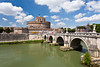 The Tevere River and the Castle of St. Angelo in Rome, Italy.