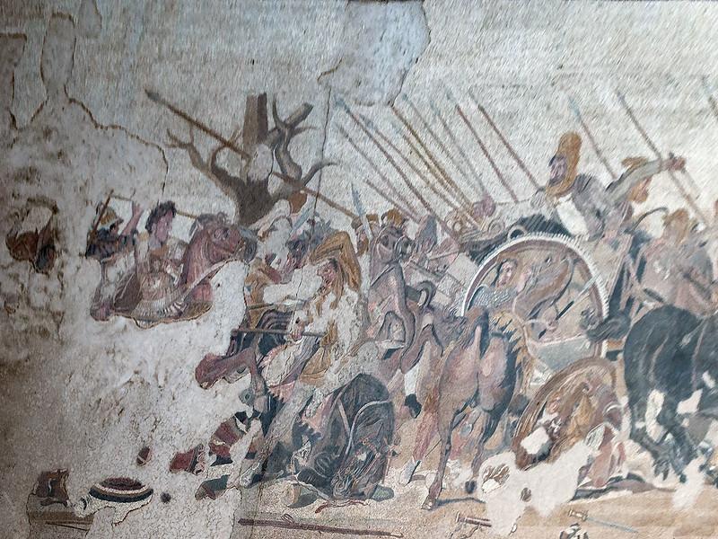 Gaugamela Battle. Floor Mosaic