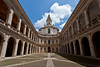 The courtyard of the church of Sant'ivo alla Sapienza in Rome, Italy.