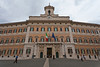 The Italian Parliament building in Rome, Italy.