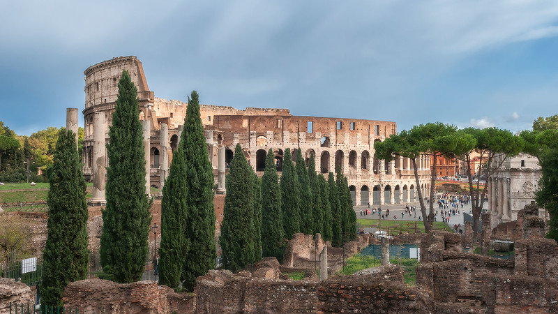 View on Colosseum from Foro Romano