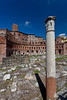 Archaeological restoration of the Roman Forum in Rome, Italy.