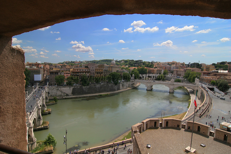 Tiber River from Castle Sant' Angelo