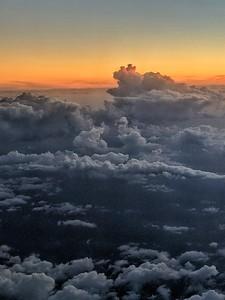 """Dog Sitting on a Cloud"" - Approaching Fumicino over the Tyrrhenian Sea - 1 October '18 - Italia"
