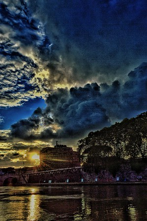 """""""Castle in the Clouds"""" - Castel Sant'Angelo - Roma"""