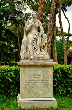 """Byron Enjoying the Park"" - Lord Byron - Villa Borghese -  Roma"