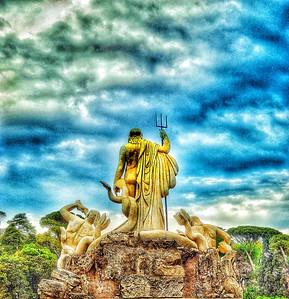 """""""Neptune Enters The Storm - Nettuno Entra Nella Tempesta"""" - Piazza del Popolo - Roma"""
