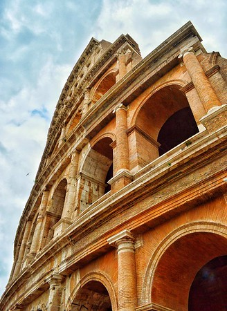 """""""Stairstepped History"""" - Colosseo - Roma"""