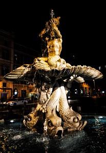"""Fontana del Tritone""""- Piazza Barberini - Roma"""