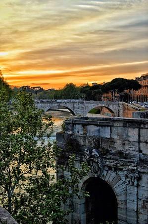 """Vista da Ponte Palatino"" - Roma"