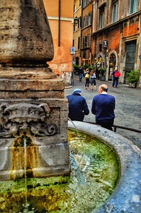 """A Fountain of Conversation"" - Roma"