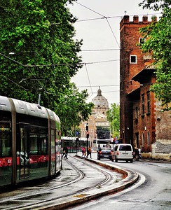 """Cloudy Trastevere -Trastevere Nuvoloso"" - Roma"