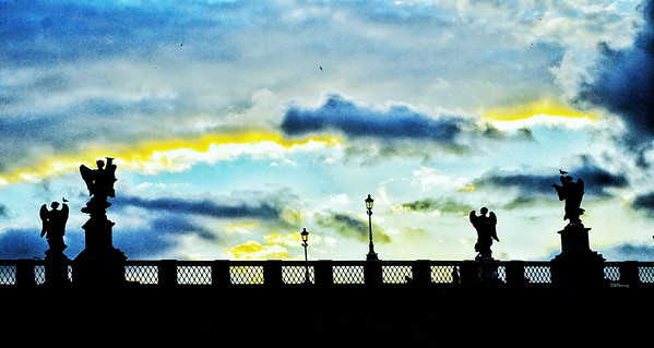 """Angles Touching the Clouds"" - Ponte Sant'Angelo - Roma"