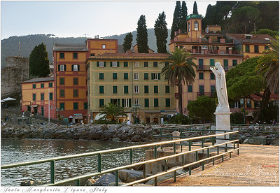 Statue of Santa Margherita at Tigullio Gulf of Santa Margherita Ligure, Italy