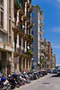 Historic building architecture in Palermo, Sicily, Italy.
