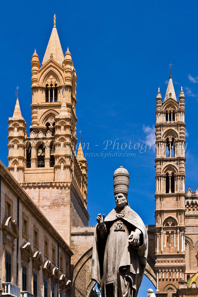 The famous Cathedral of Palermo complex in Palermo, Sicily, Italy.