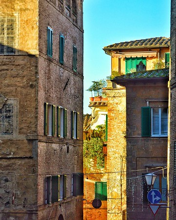 """Terrace with a View"" - Siena, Italia"